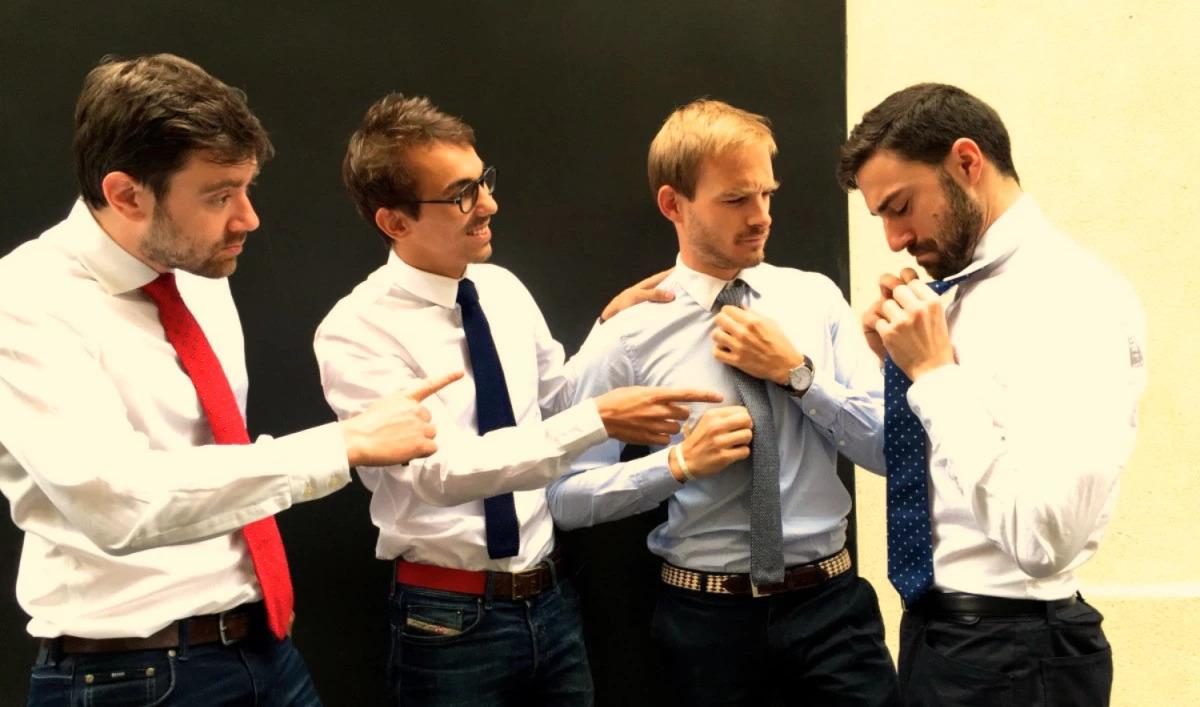 L'équipe de soyezBCBG s'essaye au noeud de cravate ...