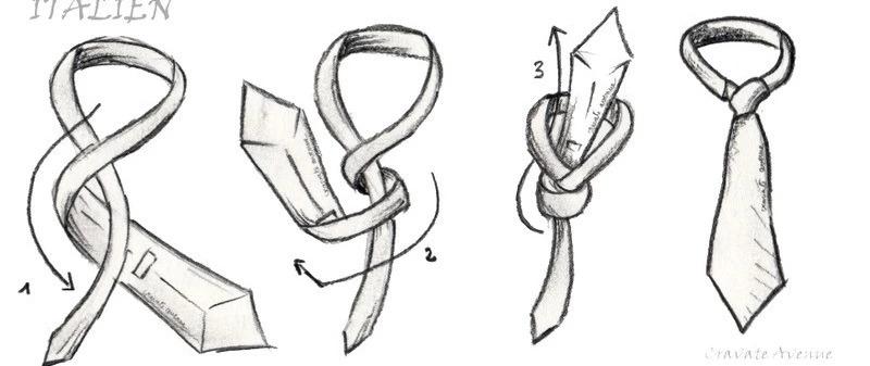Noeud de cravatte Italien